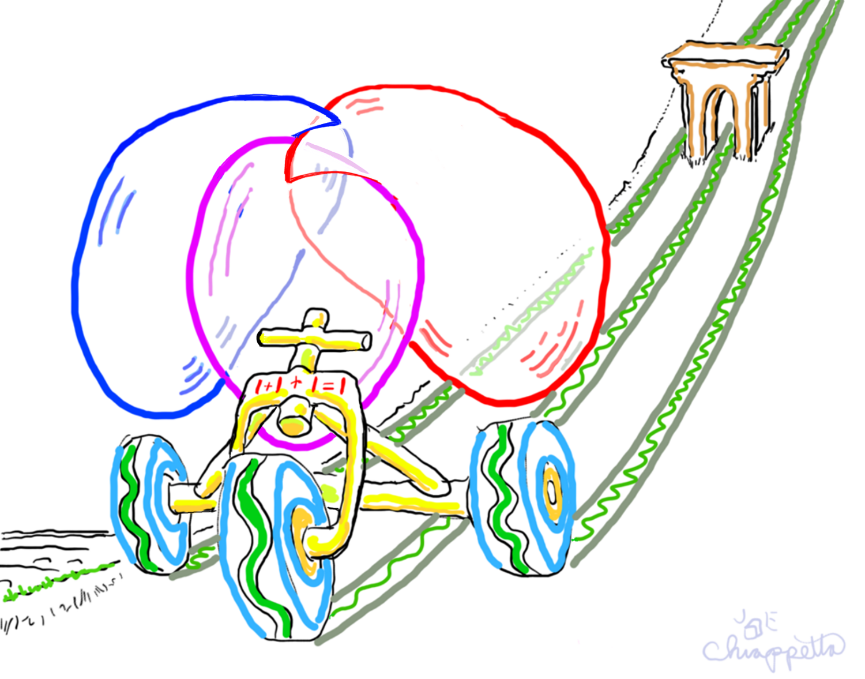 Trinity Tricycle is rare digital art by Joe Chiappetta